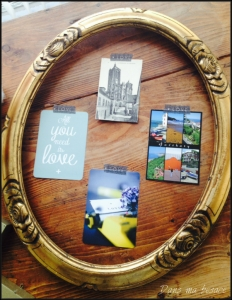 DansmaBesace - Cadre en bois et cartes postales