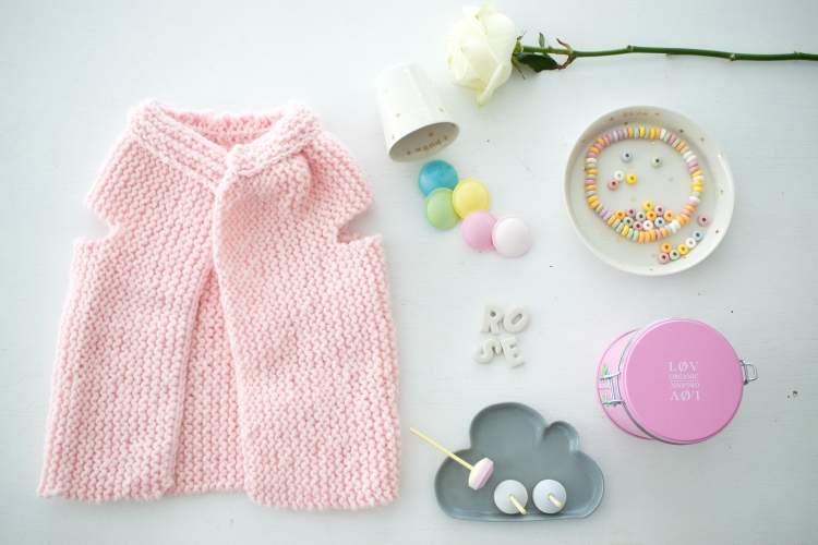Dansmabesace - Rose bonbon - Cardigan Phil Looping Phildar coloris Rosee2.jpg