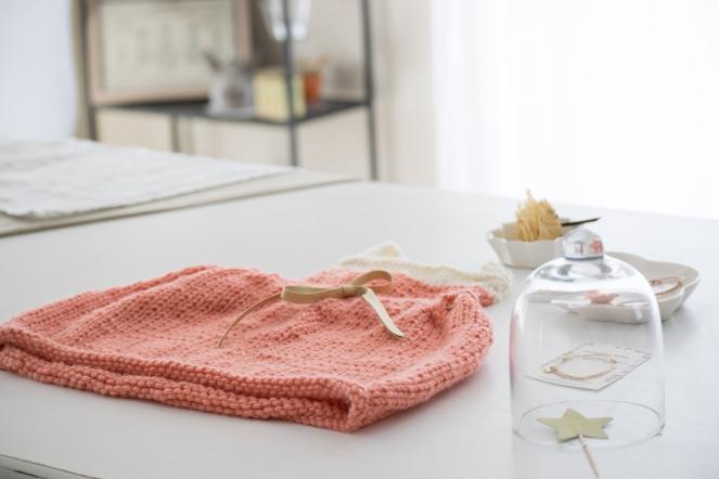 Dansmabesace - Summer dress - Details3 robe partner6 saumon et ecru