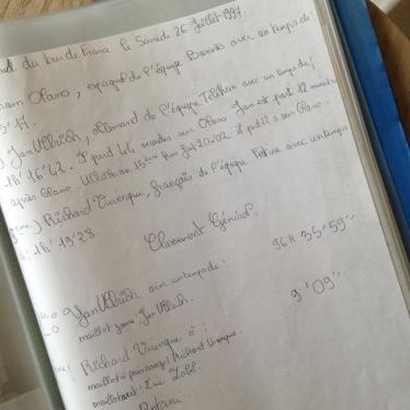 Dansmabesace - le Tour de France - Notes classements