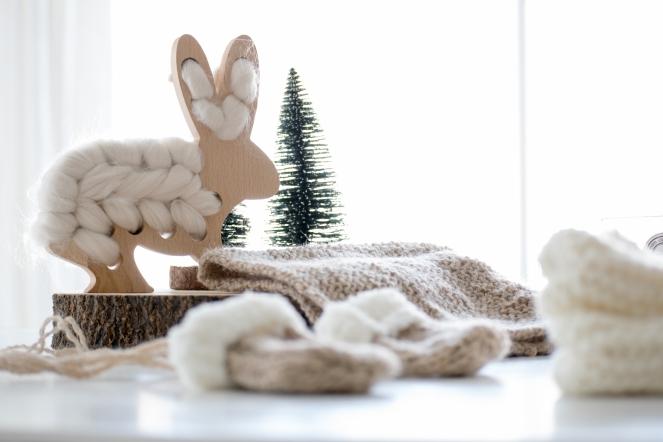 Dansmabesace - Opération layette Restos du coeur - Moufles et lapin