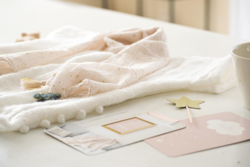 Dansmabesace - Partenariat Phildar - La petite robe blanche - Details