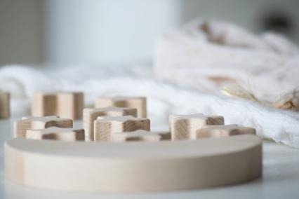 Dansmabesace - Partenariat Phildar - La petite robe blanche - Zoom etoiles bois
