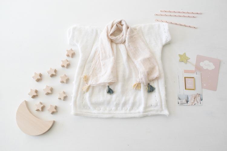 Dansmabesace - Partenariat Phildar - La petite robe blanche