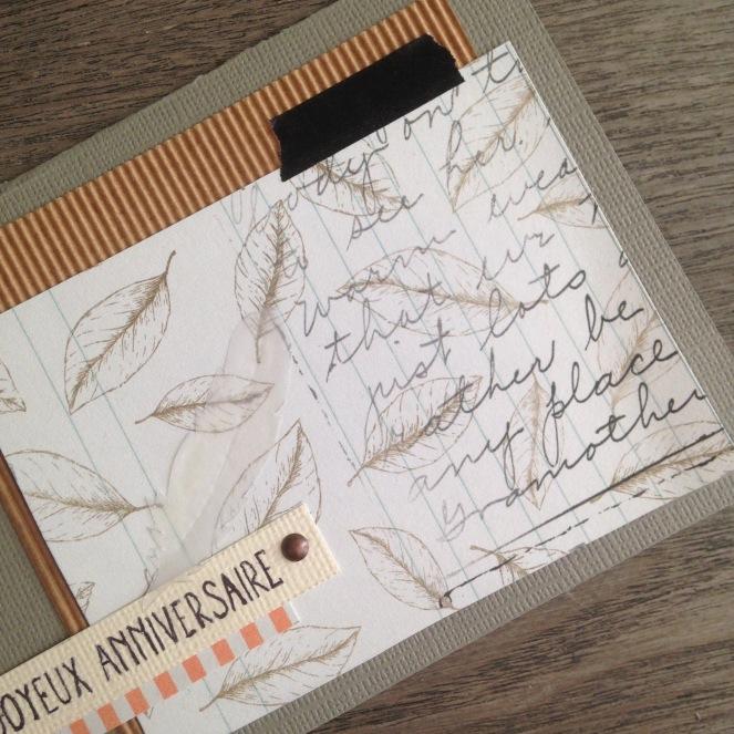 Dansmabesace - Scrap - Details carte anniversaire thème automne