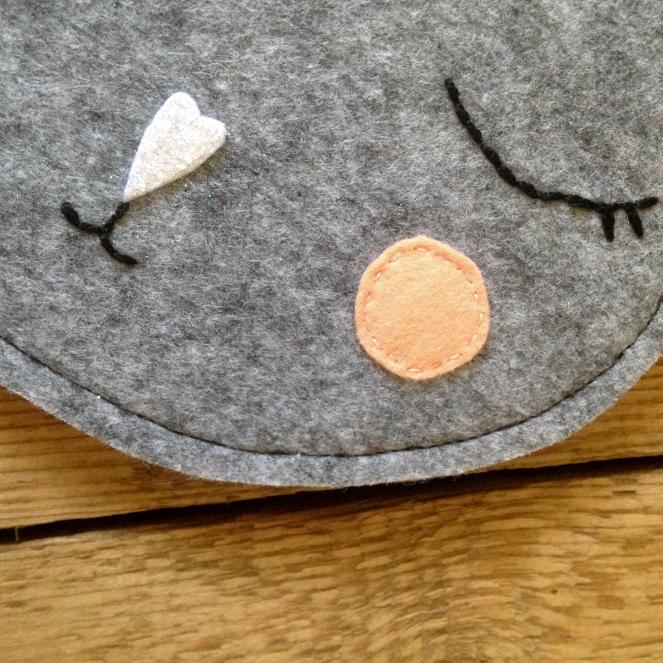 Dansmabesace - Noel 2017 - Calendrier de l'avent - Détails sac chat