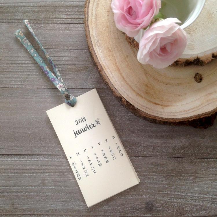 Dansmabesace - Calendrier 2018 - Version florale