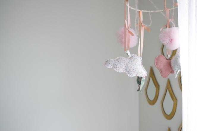 Dansmabesace - Couture - Bienvenue Louise - Mobile bebe - Zoom nuage en tissu.jpg