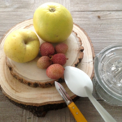 Dansmabesace - Slowlife - Kids mum - Diversification alimentaire - Compote pomme pamplemousse litchis