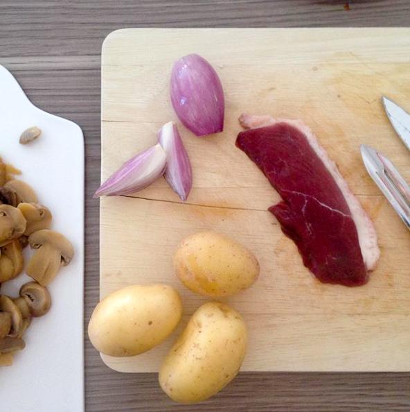 Dansmabesace - Slowlife - Kids mum - Diversification alimentaire -Purée champignons pomme de terre aiguillette de canard