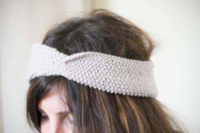 Dansmabesace - Tricot - Partenariat Phildar x Dansmabesace - Details headband twisté