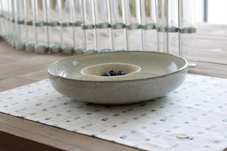 Dansmabesace - Déco - Myrtille - Assiette creuse et serviette de table