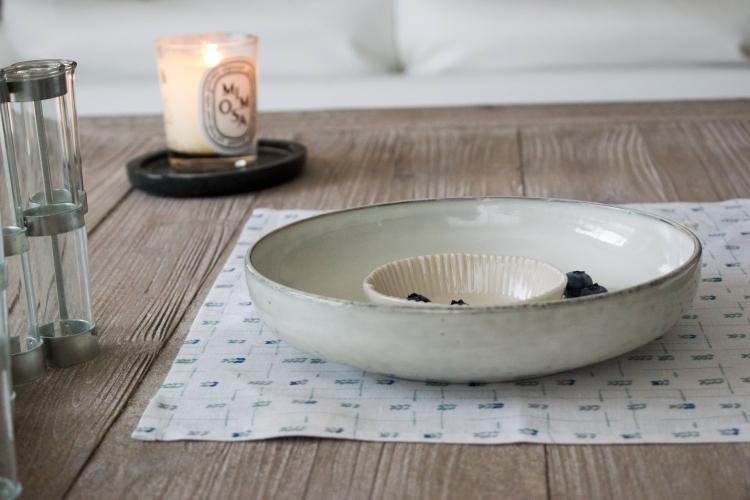 Dansmabesace - Déco - Myrtille - Serviette de table et assiettes