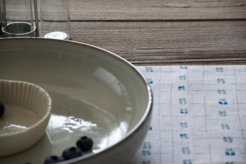Dansmabesace - Déco - Myrtille - Zoom motif serviette
