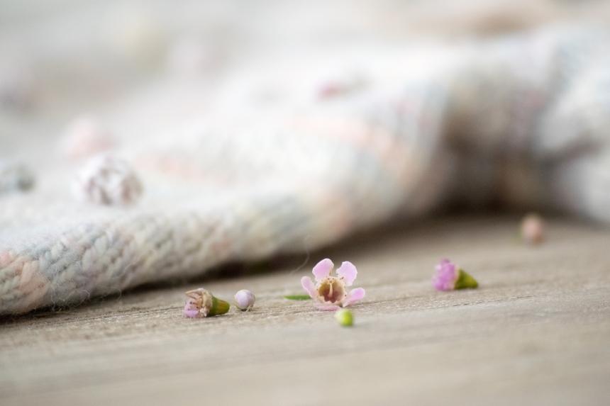 Dansmabesace - Tricot - Partenariat Phildar - Spring is coming - Pull pop corn - Fleur de wax