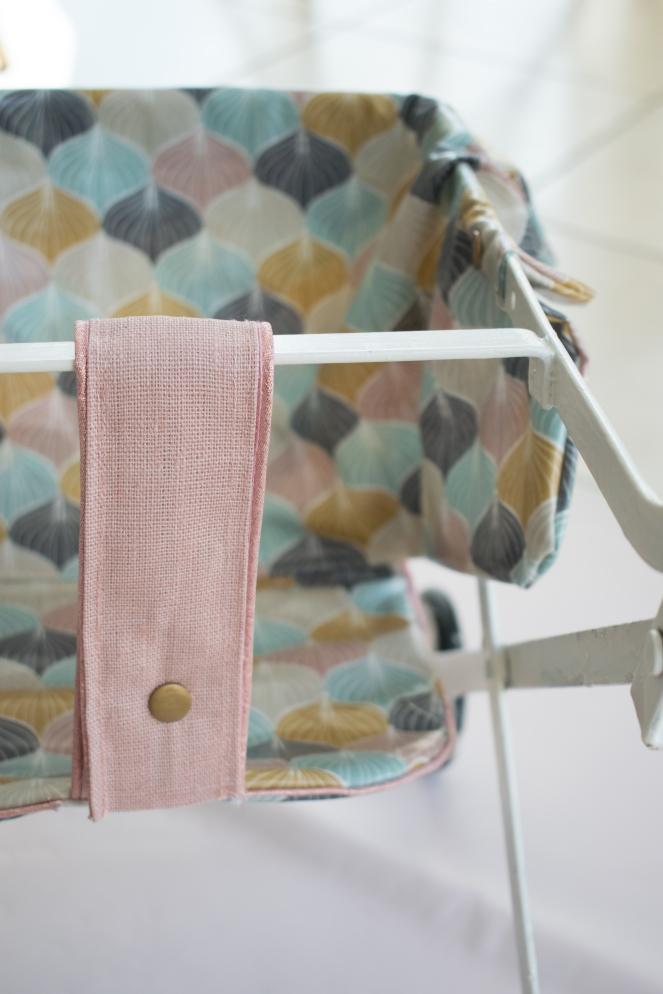 Dansmabesace - Couture - Pousette vintage - Zoom attache et passepoil