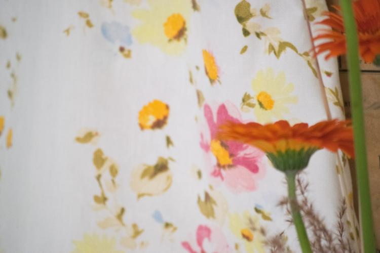Dansmabesace - Couture - Robe à fleurs vintage - Zoom tissu